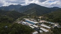The Fuxin Farm is shown in an aerial photograph in Longyan, Fujian province, China, on Nov. 18, 2020. MUST CREDIT: Bloomberg photo by Qilai Shen