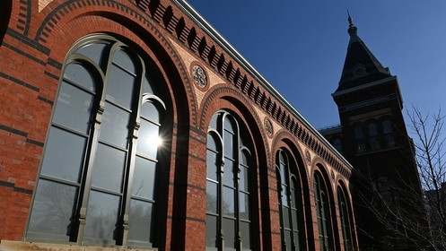 The Smithsoanian's Future event will reopen the AIB, the 1881 structure that was the institution's first dedicated exhibition space. It has remained closed to the public since 2004. MUST CREDIT: Washington Post photo by Matt McClain