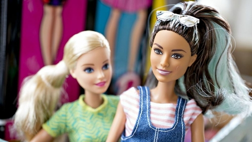 Mattel Inc. Barbie brand dolls in an arranged photograph on April 16, 2018. MUST CREDIT: Bloomberg photo by Daniel Acker.