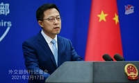 Chinese Foreign Ministry spokesman Zhao Lijian speaks at a press briefing in Beijing, China, on March 17, 2021. (PHOTO / FMPRC.GOV.CN)