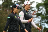 Moriya and Ariya Jutanugarn (Photo credit to LPGA)