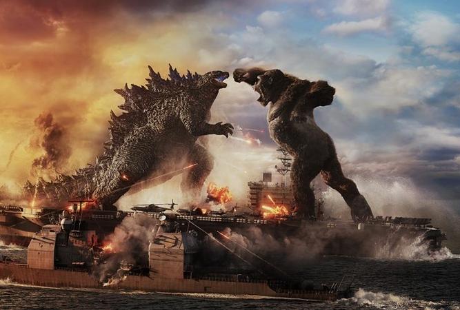 Godzilla battles Kong in