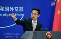 Foreign Ministry spokesman Zhao Lijian. [Photo/fmprc.gov.cn]