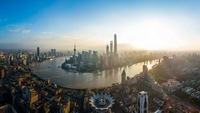 This undated photo shows a morning view of the Huangpu River in Shanghai. (CHEN ZHONGQIU / CHINA DAILY)
