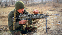 An Afghan army soldier takes part in a military operation in Kunduz Province, Afghanistan, (File Photo: IANS)