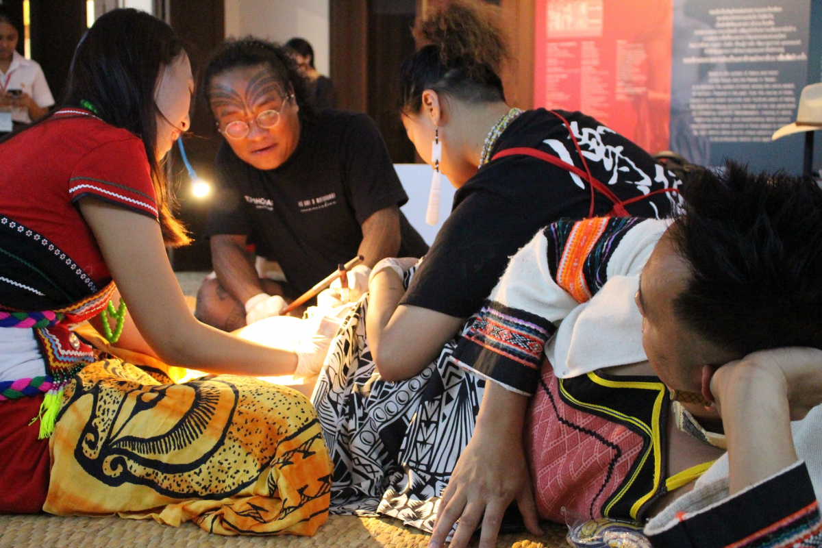 The tattooing of The Atayal indigenous group from Taiwan.