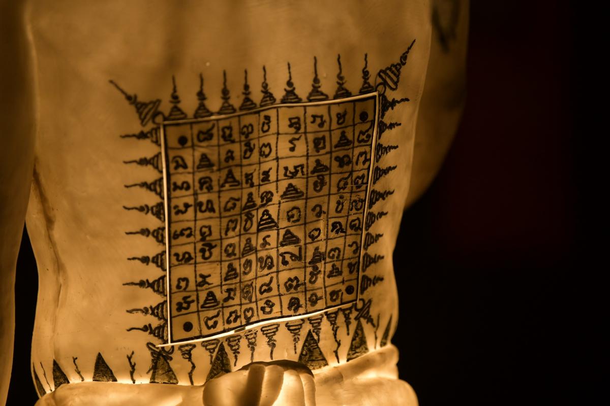 The showcase of Lanna tattoo pattern.