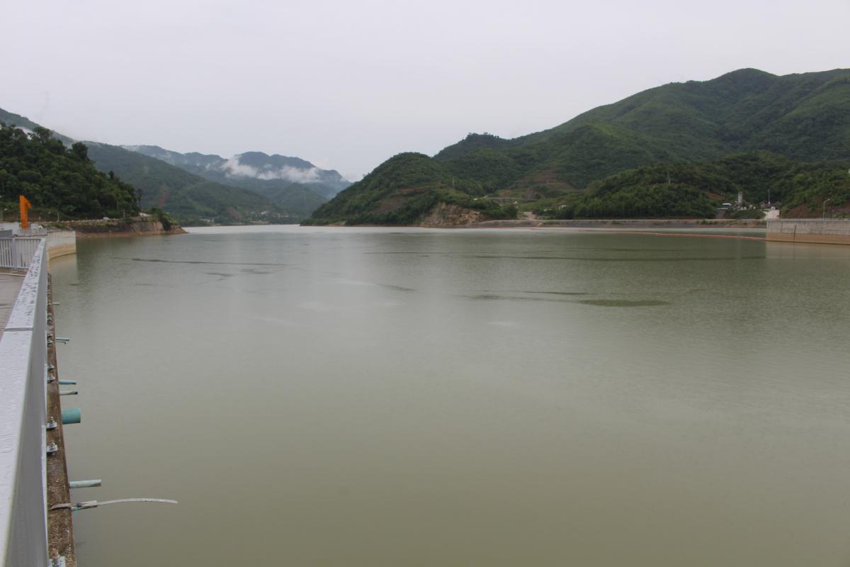 Upper part of Mekong River from Xayaburi Dam
