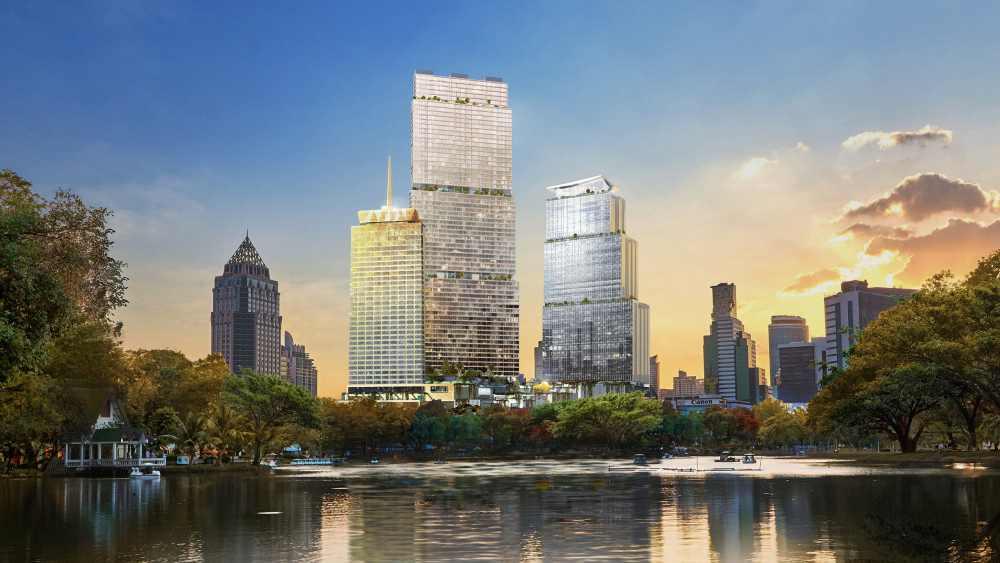 Perspective of Dusit-Central Park/Photo by: Dusit-Central
