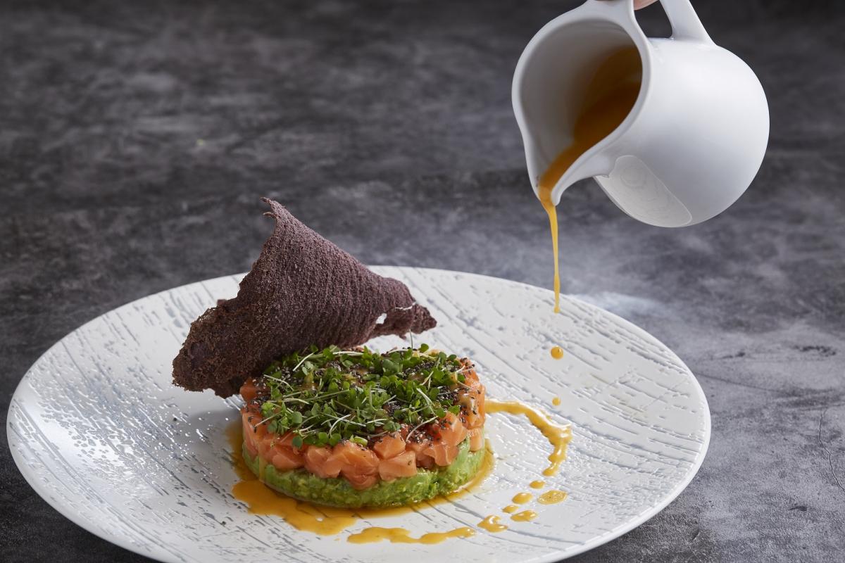 Salmon Tartare with Avocado Puree