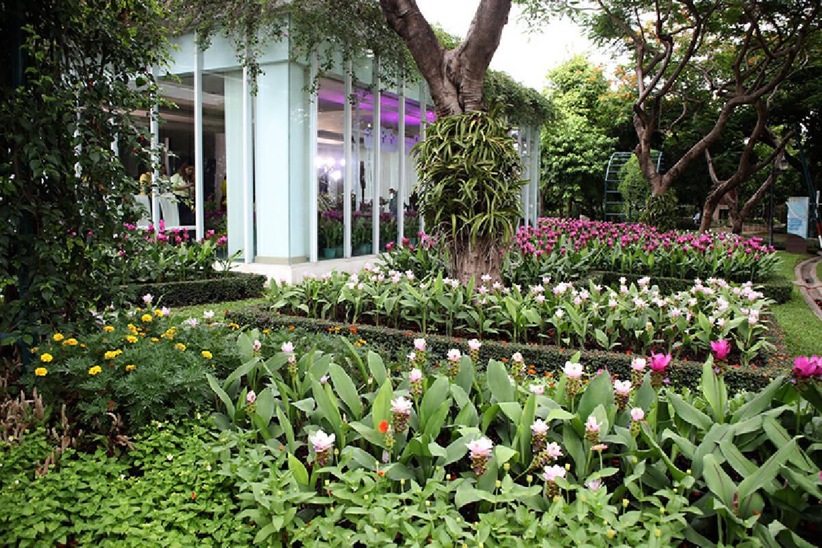 Princess Maha Chakri Sirindhorn opens garden tribute to the Queen Mother