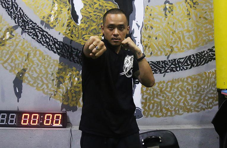 Trainer Rahul Moktan at Gymkhana Muay Thai training facility in Maharajgunj, Kathmandu.  Kabin Adhikari/TKP