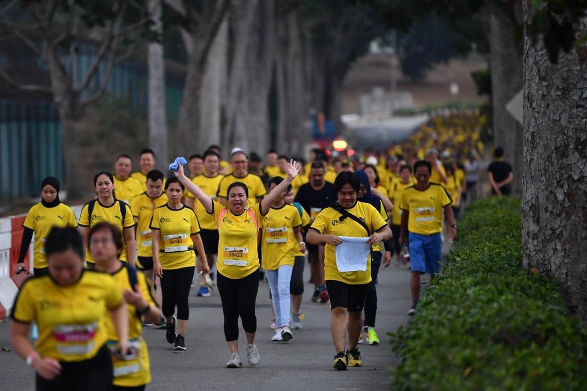 Participants of the Yellow Ribbon Prison Run 2019 on Sept 15, 2019. ST PHOTO: LIM YAOHUI