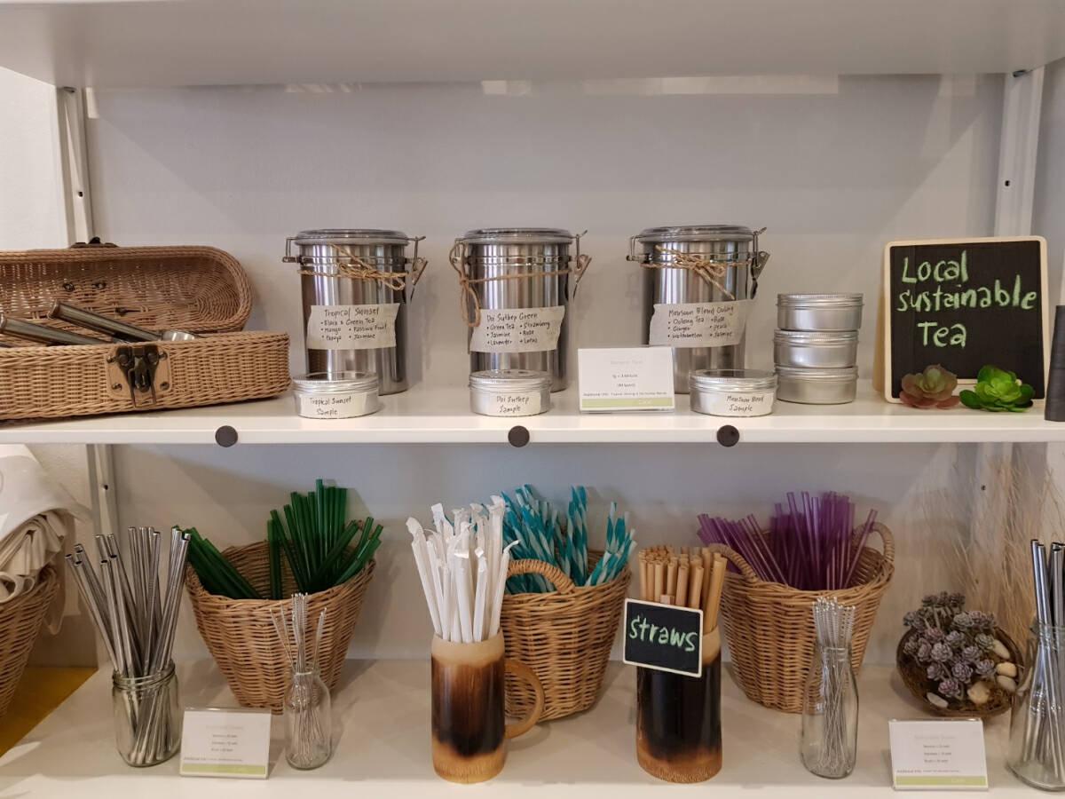 Plastic substitutes for sale at Phuket social enterprise shop
