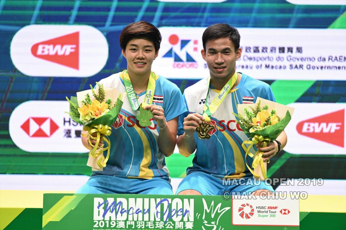泰国人在澳门BWF赛事中夺得单打,混双冠军