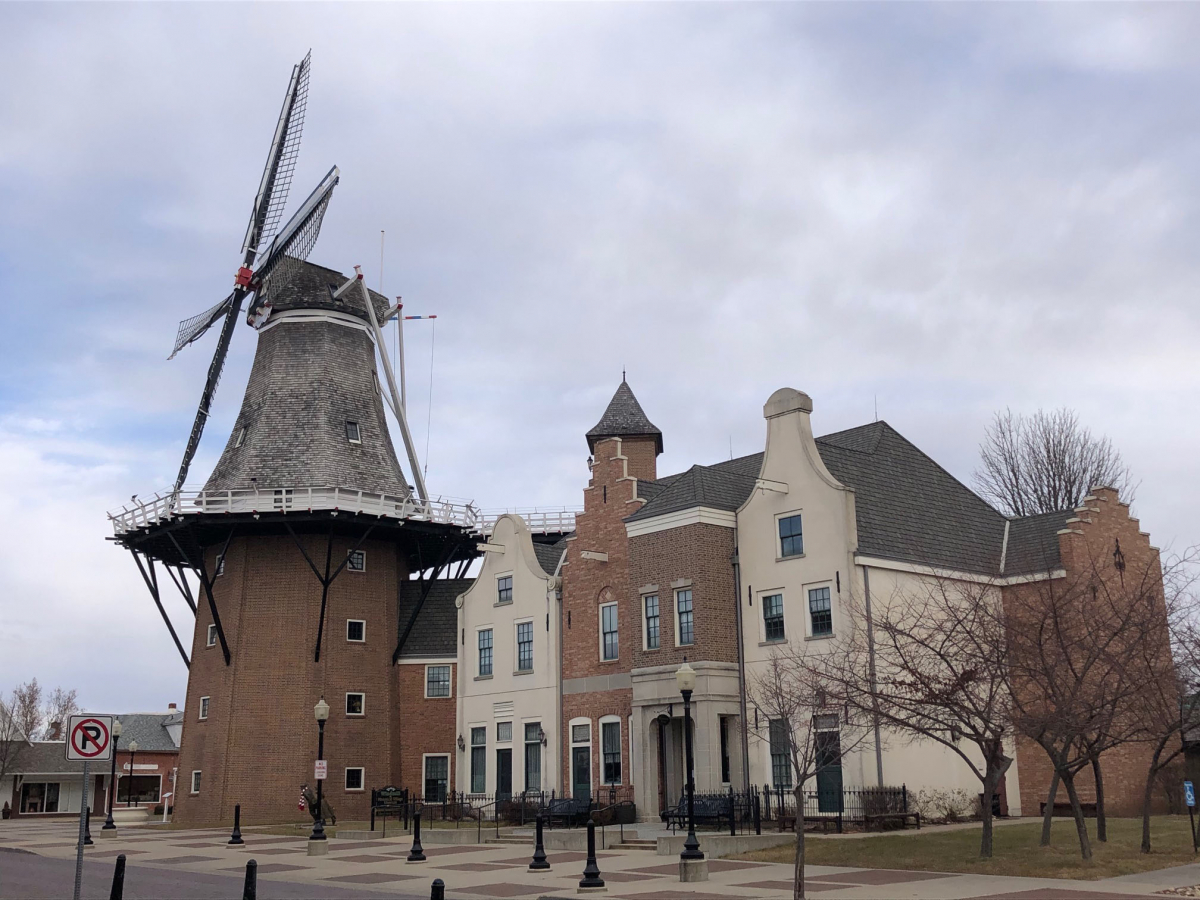The town of Pella, which Dutch immigrants established in the mid-1800s, celebrates its Dutch traditions including a tulip festival and the Vermeer Windmill, at nearly 125 feet the tallest working windmill in North America. It is shown Jan. 6, 2020. MUST CREDIT: Washington Post photo by Andrea Sachs