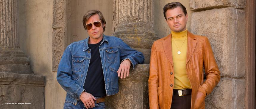 Brad Pitt (left) and Leonardo DiCaprio (right)