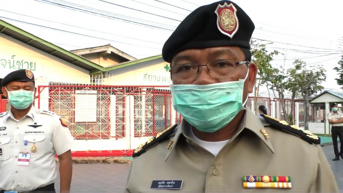 Right: Prison commander Komkrit Wongsasai