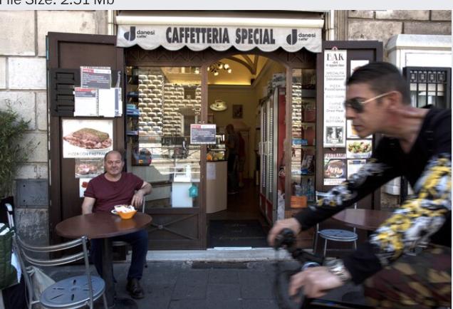 Bar del Cappuccino in Rome on June 6, 2020. MUST CREDIT: Photo for The Washington Post by Ginevra Sammartino