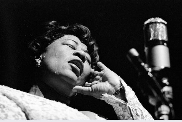 Ella Fitzgerald at the Olympia Theatre in Paris, 1960. MUST CREDIT: Herman Leonard/Eagle Rock Films