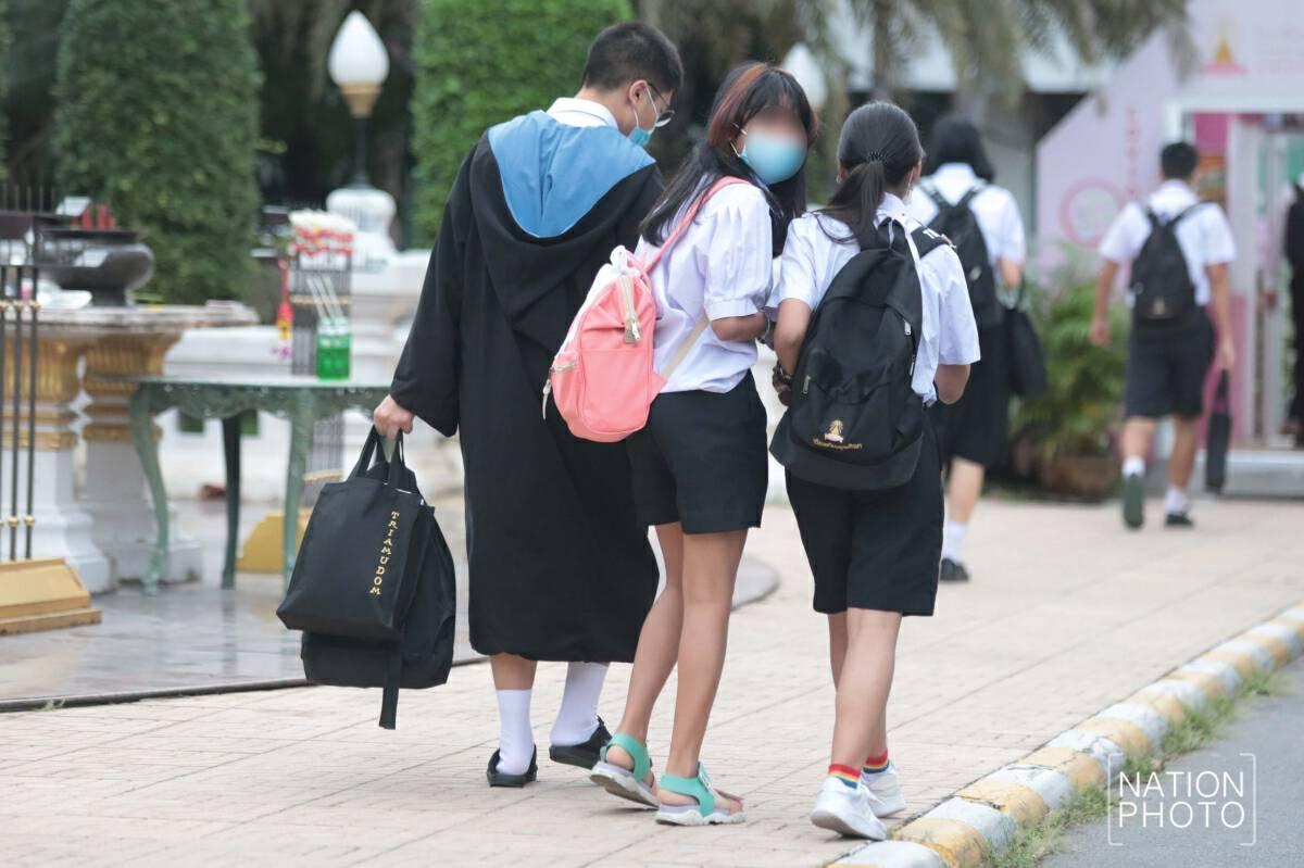 Triam Udom Suksa students heed activists' call to shun uniform