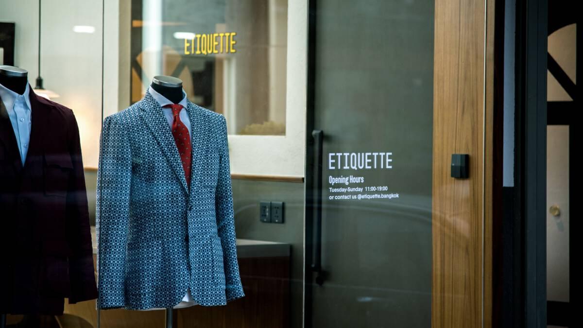 Bespoke menswear brand Etiquette opens first boutique in Bangkok
