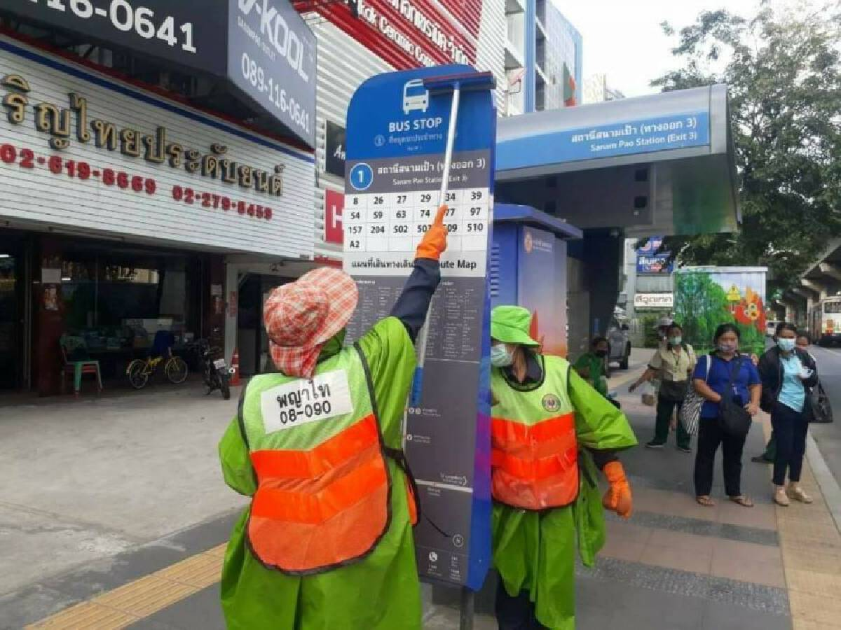 Several Bangkok areas 'wiped down' with antiseptic