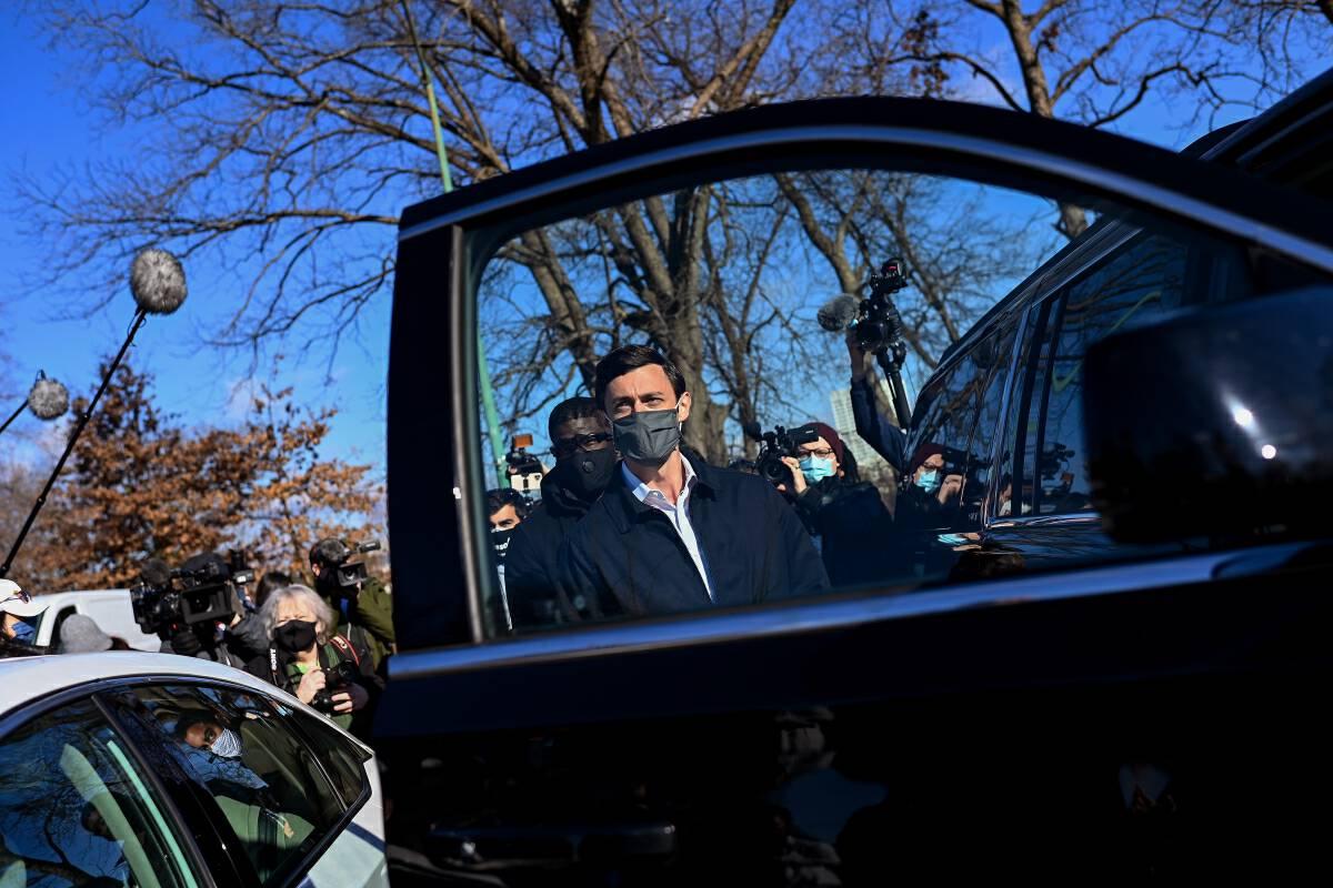 Democratic Senate candidate Jon Ossoff in Atlanta on Tuesday. MUST CREDIT: Washington Post photo by Joshua Lott.