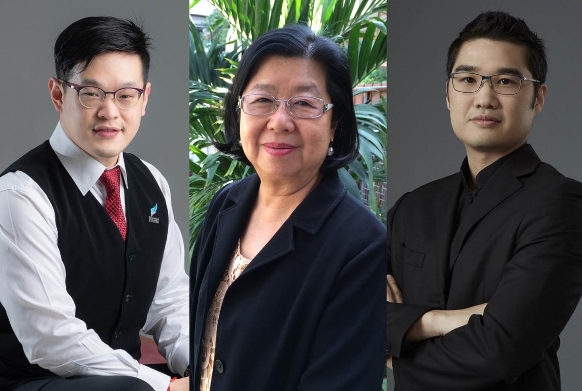 (From left)  Asst. Prof. Dr. Ake Pattaratanakun, Dr. Mingsan Khaosaard, Asst. Prof. Dr. Torplus Yomnak