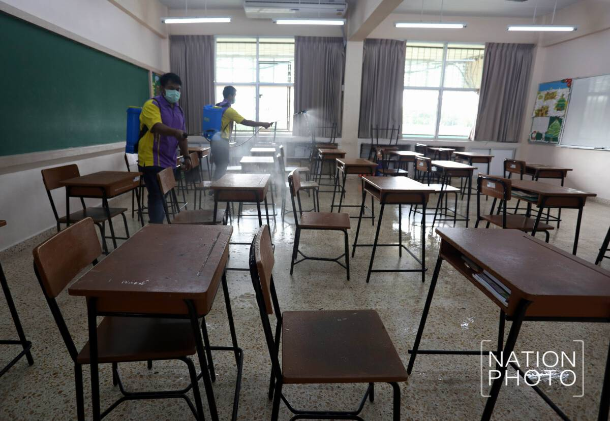 School gets a good wash before reopening on Monday