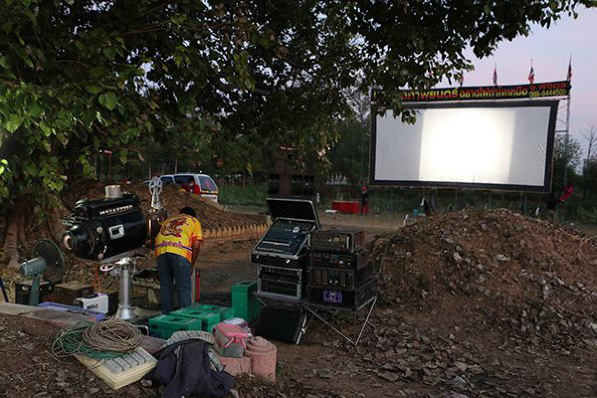 Graveyard comes to life with movies for ancestors