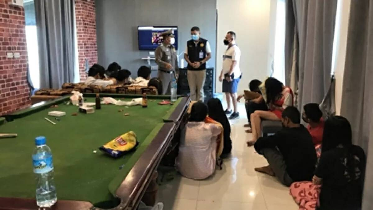 36 people arrested at alleged drug party in Chonburi