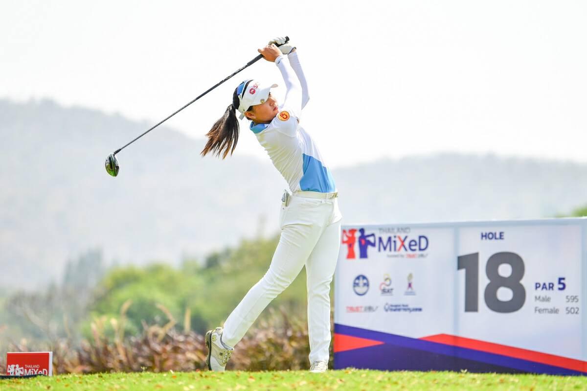 Pattaraporn grabs limelight as women dominate men at golf's Thailand Mixed