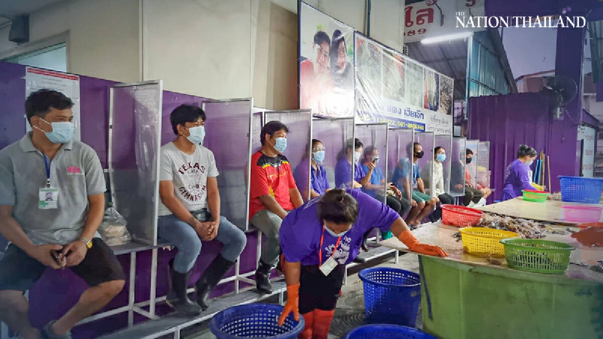 The Samut Sakhon seafood market at the centre of Thailand's second wave of Covid-19 infections reopened on Monday after closing for two months.