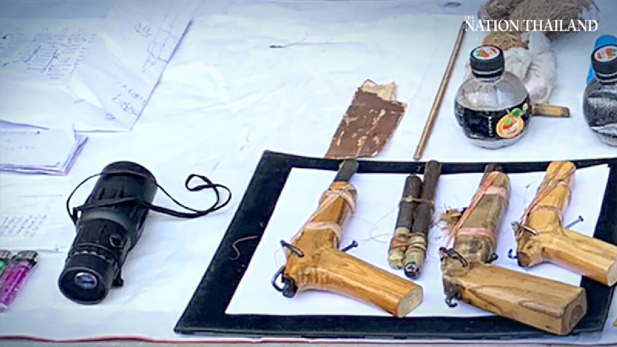 Man caught carrying 18 pipe bombs, 3 guns in Bangkok