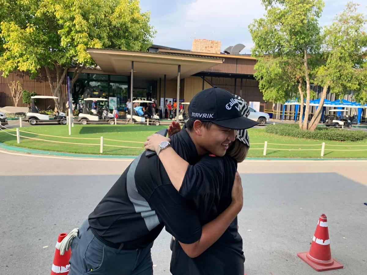 Golfer Poom fulfils mum's desire for title as birthday gift