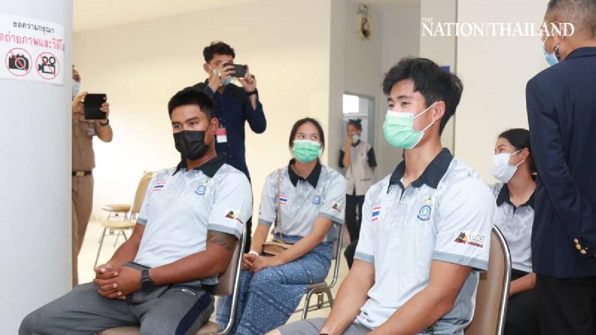 Thai sailors get Covid jab ahead of Olympic shot