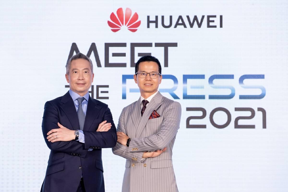 Mr. Abel Deng (right), CEO,   Huawei Technologies (Thailand) Co., Ltd. and Dr. Chawapol Jariyawiroj (left), President,  Huawei Technologies (Thailand) Co., Ltd.
