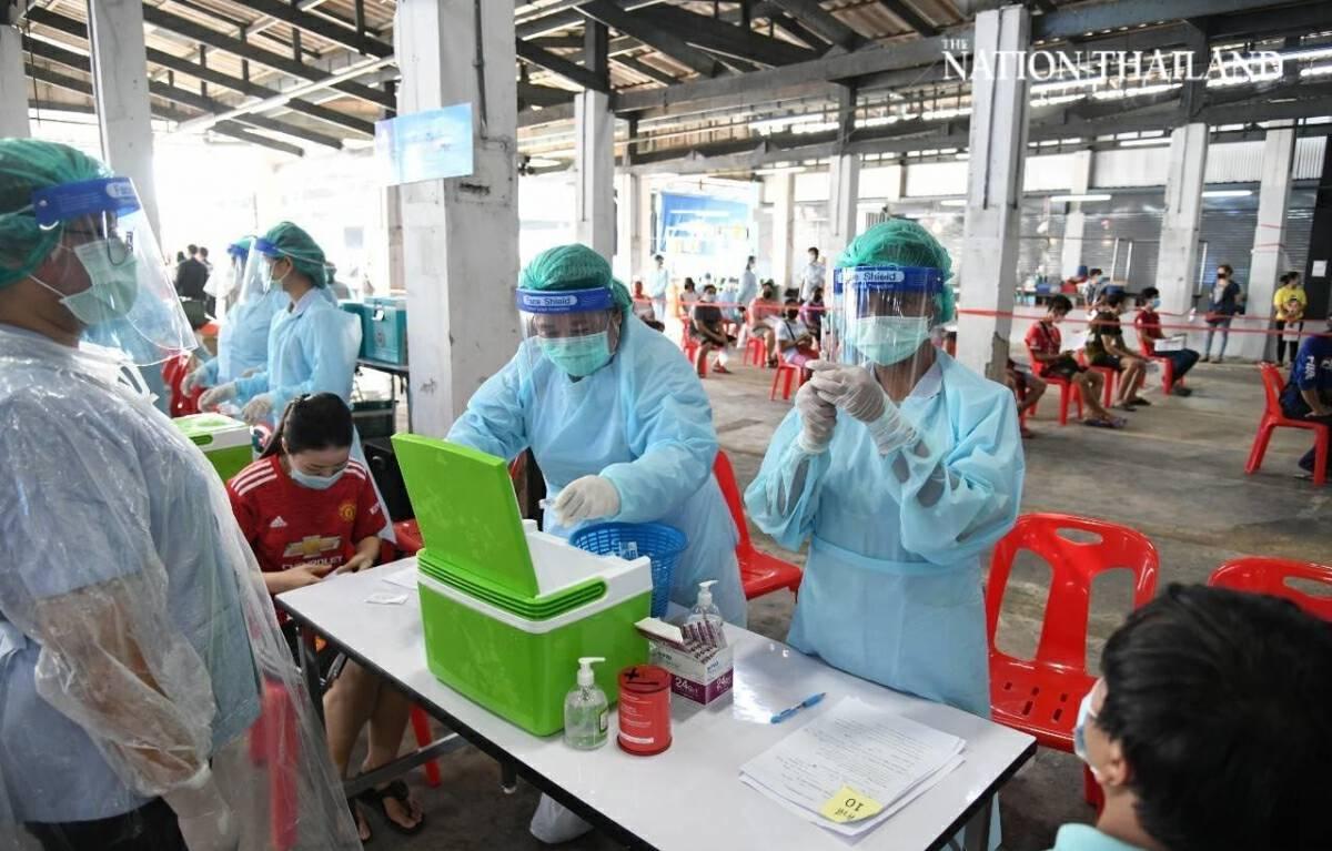 Covid shots rollout kicks off in Bang Khae market
