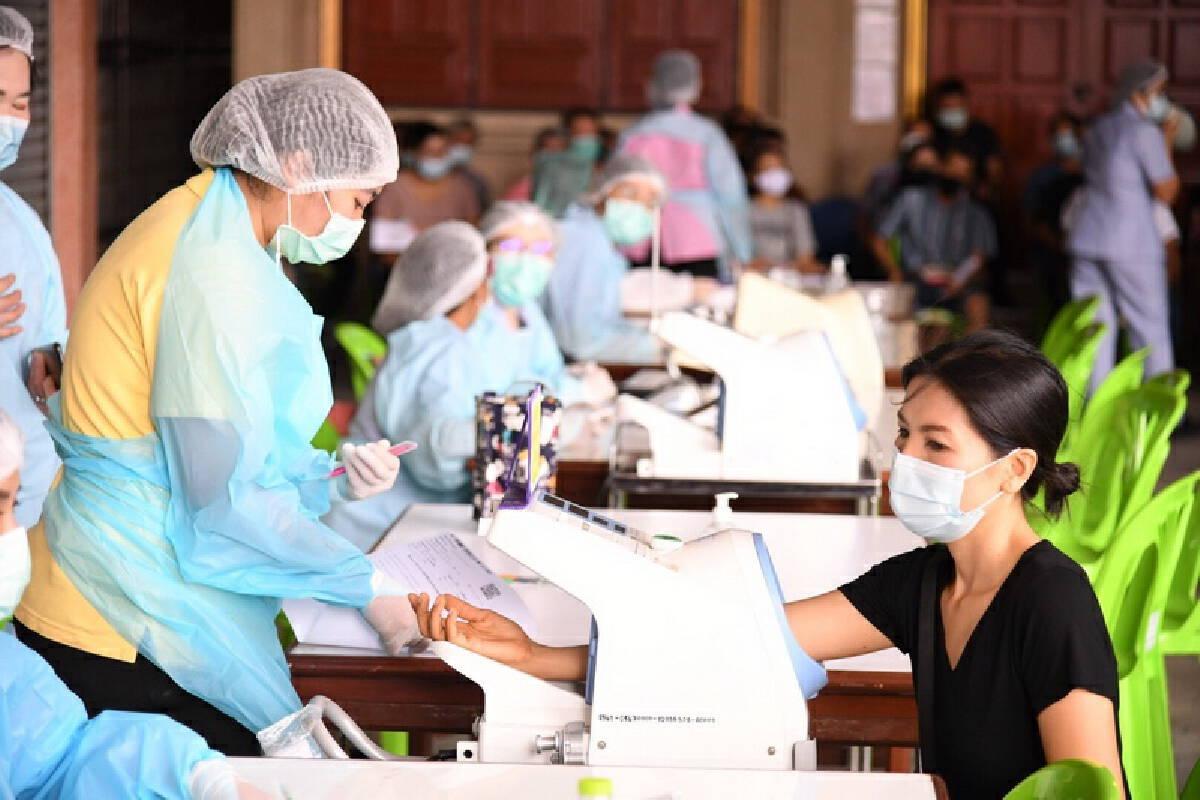 1,400 people vaccinated in Bangkok's Bang Khun Thian district