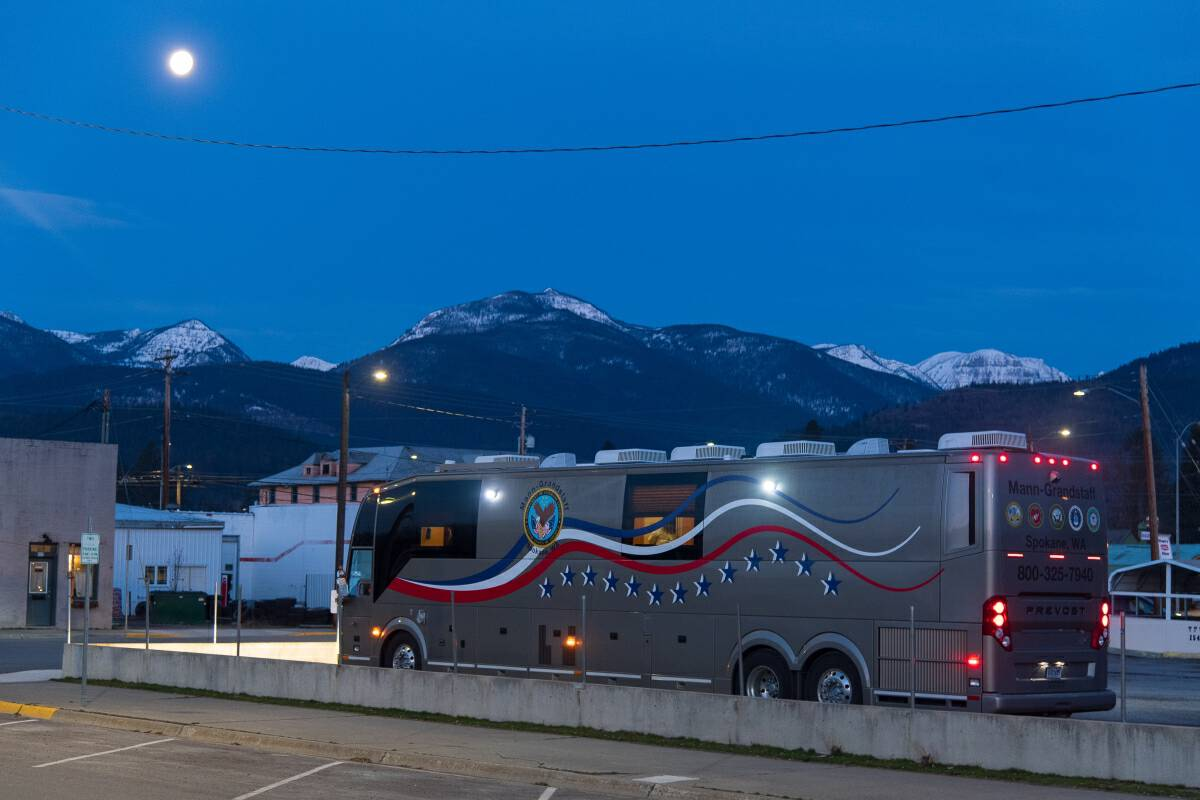 The VA mobile medical unit has made three trips to Libby, Mont., since January. Photo by Tony Bynum for The Washington Post