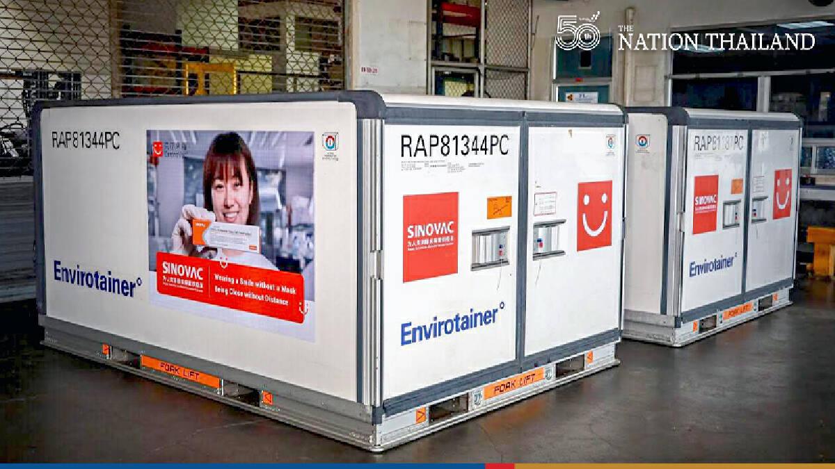 Shipment of million Sinovac doses lands in Suvarnabhumi