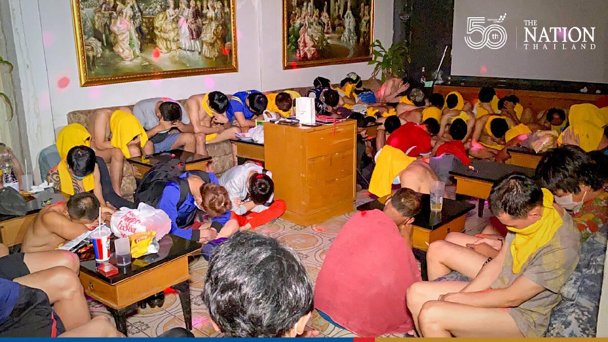 60 employees, visitors arrested as police raid Bangkok sauna