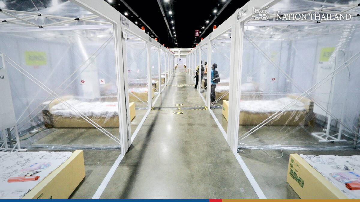 Impact's huge Challenger Hall set up as fully equipped field hospital