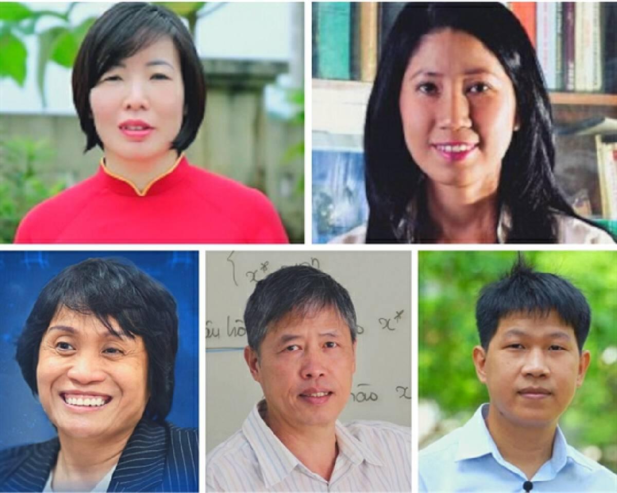 (From left to rìght) Scientists Trần Thị Thu Hà, Vương Thị Ngọc Lan, Lê Thị Quỳnh Mai, Phạm Tiến Sơn and Nguyễn Trương Thanh Hiếu. Photo www.asianscientist.com