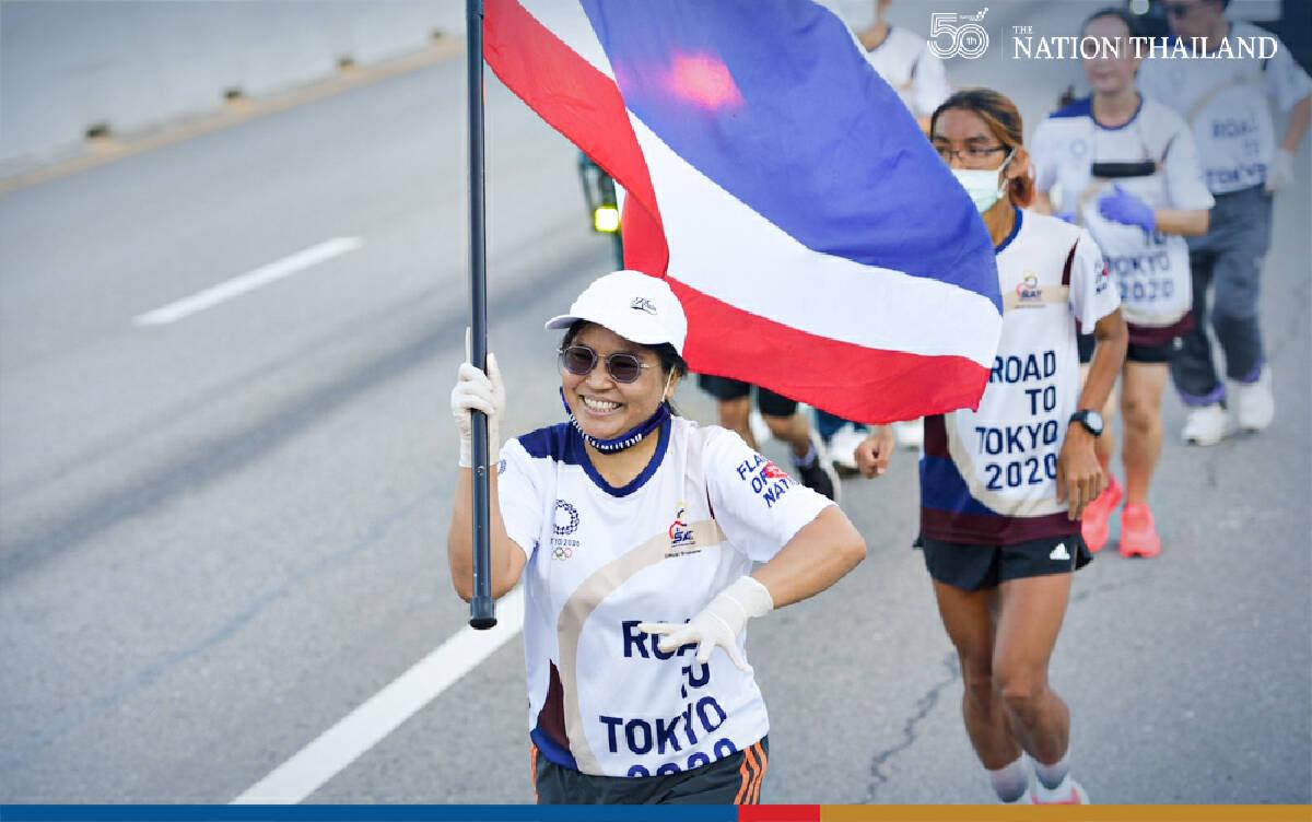 Thai flag edges towards Olympics as relay runners hit finishing straight