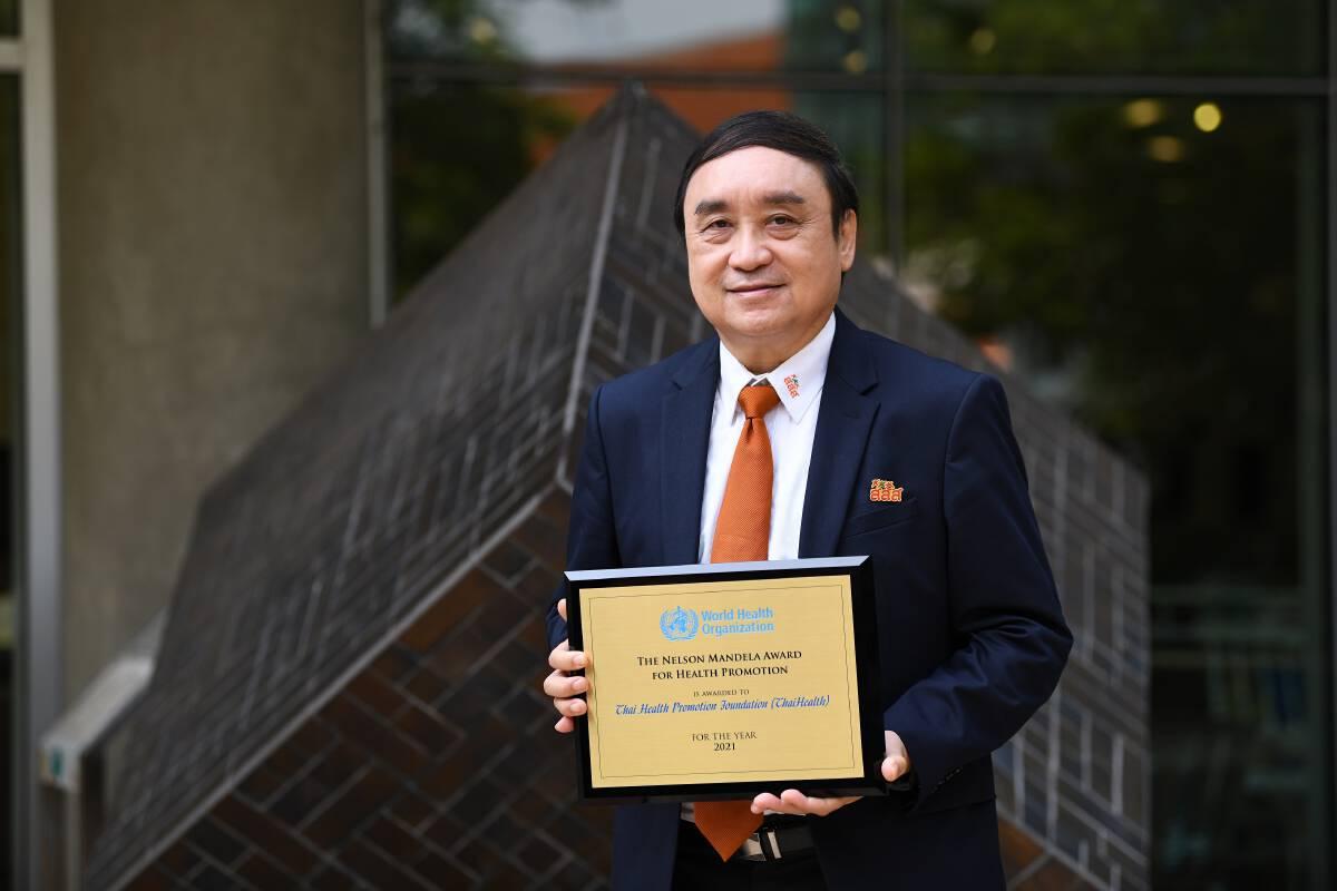 WHO awarded Thailand's the Nelson Mandela Award for Health Promotion