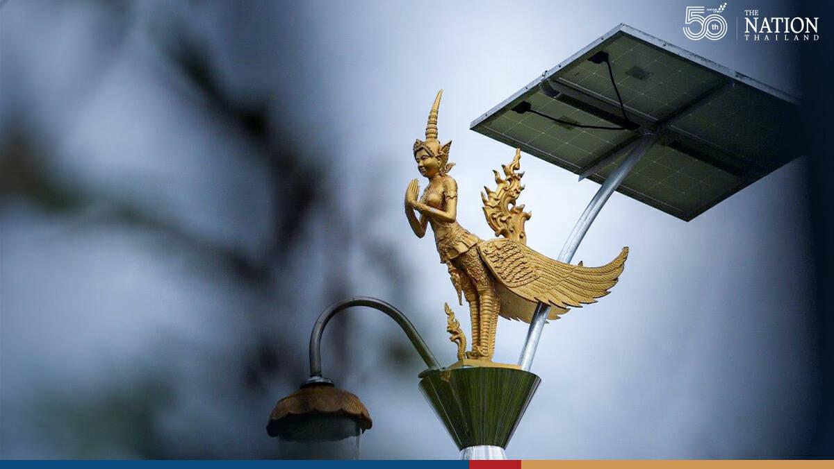 Questions raised over high cost of kinnari-inspired lampposts in Samut Prakan