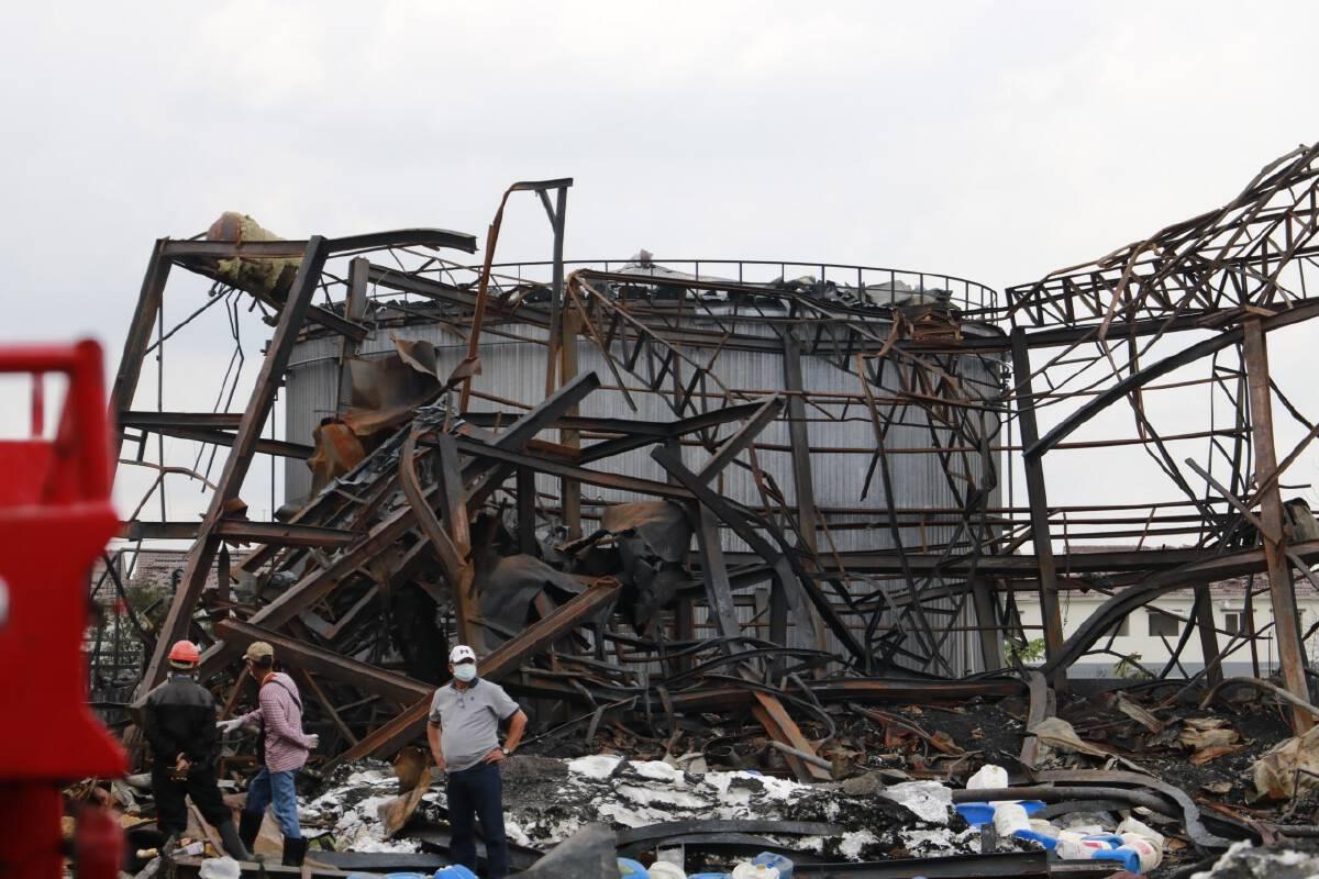 Disposal of chemical at Samut Prakan blast site to take 5-10 days