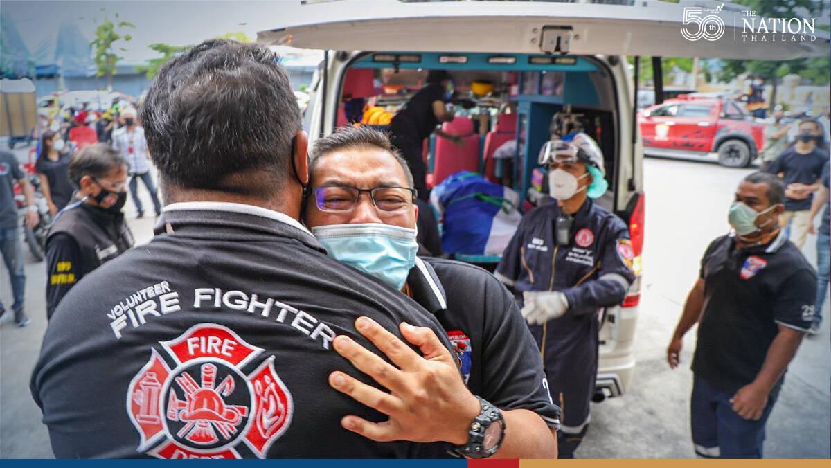 Volunteer firefighter hailed as hero after losing life in Samut Prakan inferno